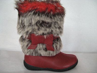 Зимові чобітки для дівчинки для дівчаток Garvalin 111417 червоні