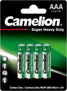Батарейка Camelion R03 / 4 BL Green 4 шт (R03P-BP4G)