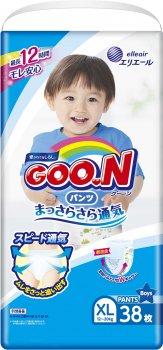 Підгузки-трусики Goo.N для хлопчиків 12 — 20 кг Big XL 38 шт. (843098) (4902011751406)