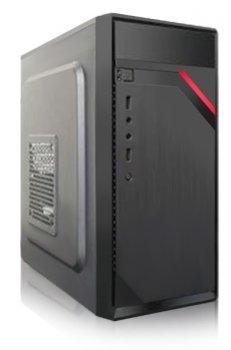 Корпус Logicpower 6105-400W 8см, 2xUSB2.0, Black