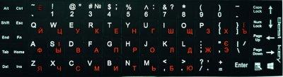 Наклейка на клавіатуру Lucom Деколь ноутбука Анг/Укр/Рус різнобарвний(25.02.5075)