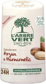 Дезодорант L'Arbre Vert с экстрактами арганы и гамамелиса 50 мл (3450601032417)