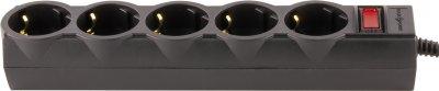 Мережевий фільтр LogicPower LP-X5 Premium 2 м 5 розеток Black (LP9583)