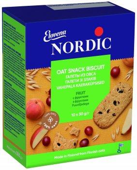 Упаковка галета из овса Nordic с фруктами 300 г х 6 шт (6411200206743)