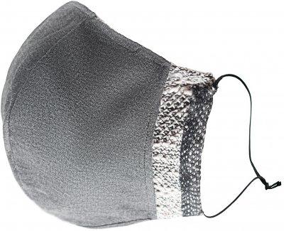Защитная маска для лица Effetto многоразовая двухслойная мужская МЕМ-001 Серая (2000985168564)