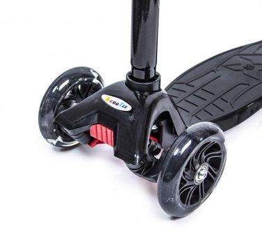 Самокат Scooter Maxi Чорний Світяться колеса (SD 455647779)