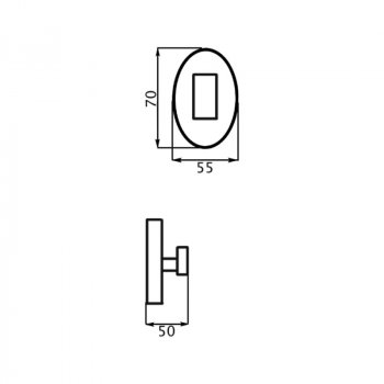 Крючок для ванной Potato P2905-1