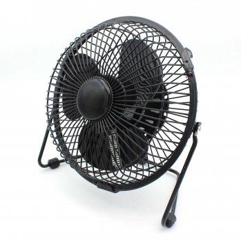 Настольный вентилятор с LED-часами и термометром JIJIA Led fan 15 см (t282)