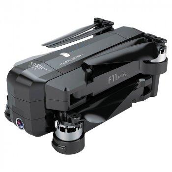 Дрон Blitz F11 PRO GPS управляемая 5G камера Full FHD 2592 x 1520 дальность 1200m полет 25 минут Черный