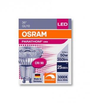Лампа LED OSRAM PAR1650D 5.5 W 3000K GU10 (11991280)