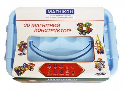 3D магнитный конструктор МАГНІКОН, 118 дет. Plastic box