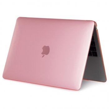 """Прозорий чохол на MacBook Pro 16 """" 2019 Crystal накладка на ноутбук з прозорого пластику A2141 + Захист на Екрані рожевий + ПОДАРУНКОВА упаковка"""