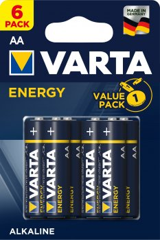 Батарейки Varta Energy AA BLI 6 (4106229416)