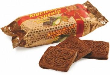 Печенье Добрый смак Юбилейный сувенир фасованное шоколадное 4 кг