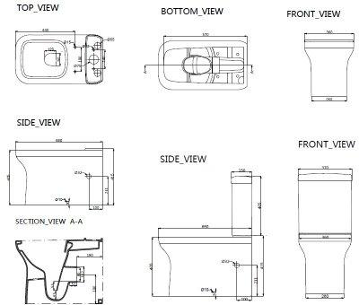 Унітаз-компакт DEVIT City безобідковий зі сидінням Soft Close Quick-Fix дюропласт 3010160