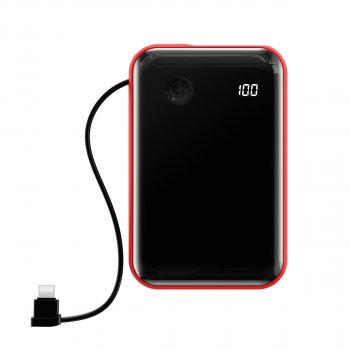 УМБ Baseus Mini S 10000mAh 15W 3A з технологією QC3.0+PD3.0 і iP кабелем Червоний