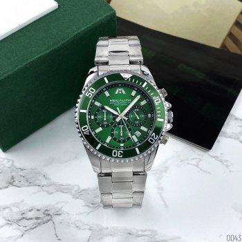 Годинники чоловічі Megalith 8046M Silver-Green
