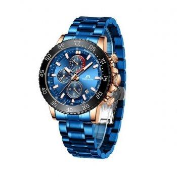 Годинники чоловічі Megalith 8087M Blue-Cuprum