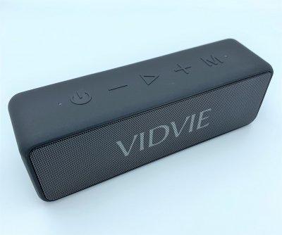 Беспроводная портативная Bluetooth колонка водонепроницаемая двухсторонние динамики VIDVIE SP914 Черная