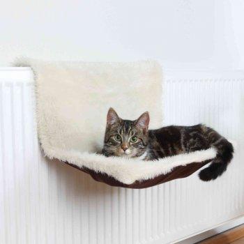 Лежак на батарею для кішок Trixie 45х26х31 см Коричневий / Бежевий (4011905431413)