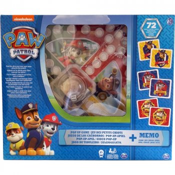 Настільні ігри Spin Master Набір з двох настільних ігор Щенячий патруль гра з кнопкою і меморі (SM98281/6036439)