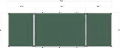 Доска Сектор магнитно-меловая 400х100 см (К4010)