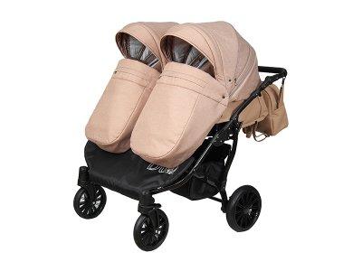 Дитяча коляска для двійні 2 в 1 Angelina Amadeo Duo бежева color 7