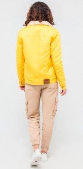 Куртка DASTI Denim Urban джинсовая женская на овчине желтая (482DS20191698)