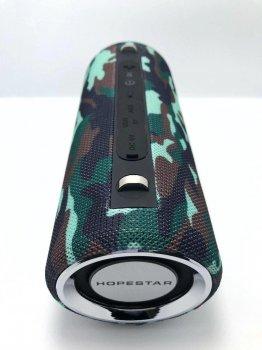 Потужна портативна bluetooth колонка Sound System H39 Pro Hopestar Оригінал 10ВТ з Вологозахистом і функцією Зарядки пристроїв Камуфляж