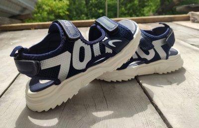 Босоножки для мальчика Jong Golf C30014-1 синего цвета