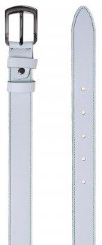 Ремень кожаный Sergio Torri 8-0058 100-115 см Белый с зеленой строчкой (2000000014890)