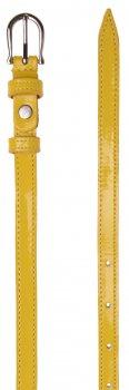 Женский ремень кожаный Sergio Torri 8-0029 100-120 см Желтый лаковый (2000000014609)