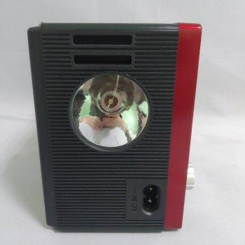 Аккумуляторный радиоприемник с солнечной панелью Bluetooth SD USB и Фонарь Красный NNS (NS-1556BTS)