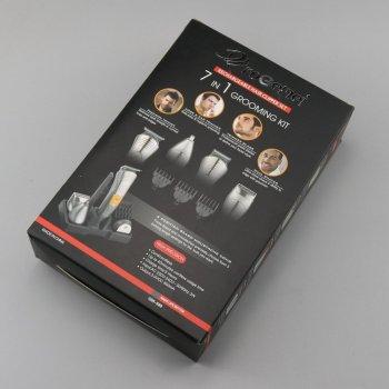 Набор для стрижки Pro Gemei (GM-580) триммер 7в1 для стрижки волос бритья бороды для носа и ушей стайлер Серебристый