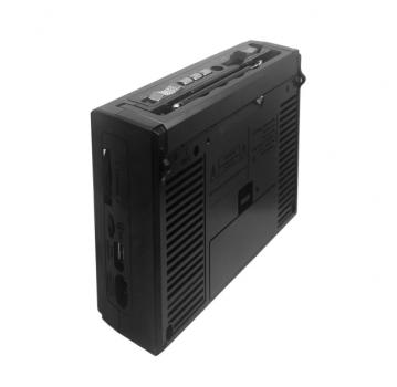 Акустична система Golon колонка з радіо акумуляторна радіоприймач з ліхтариком USB, AUX вихід Чорний Golon (RX-166)