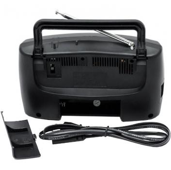 Акустическая система аккумуляторный радиоприемник FM приемник Чёрный Kipo (KB-409AC)