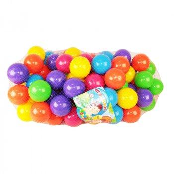 Кульки Для Сухих Басейнів MToys Діаметр 74 мм 100 штук, Різнокольорові у Сітці (17102)
