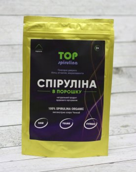 """Спіруліна в порошку 100 грам """"ТОП Спирулина"""""""