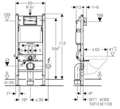 Інсталяція GEBERIT Duofix 458.126.00.1 + унітаз ROCA Gap Rimless A34H470000 із сидінням Soft Close