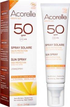 Спрей солнцезащитный Acorelle органический SPF 50 100 мл (3700343046242)