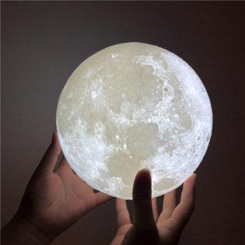 Нічник настільний світильник Magic 3D Moon Lamp Місяць