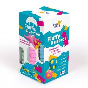 "Набор воздушного пластилина для детской лепки ""Fluffy"", 8 цветов Genio kids (TA1503)"