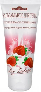 Бальзам-мусс для тела Liv Delano Sun of life Клубника со сливками для упругости груди, живота и ягодиц 200 г (4811248000143)