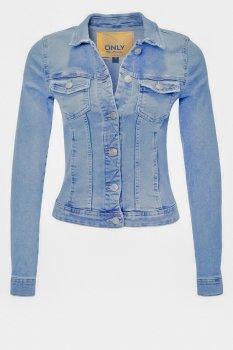 Джинсова куртка Only Light Blue Denim блакитний (12124729)