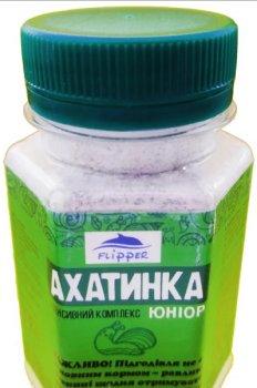 АХАТИНКА ЮНИОР белково-кальциевая подкормка с травами для улиток 100г