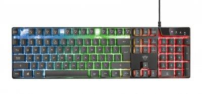 Комплект геймерська клавіатура і мишка Trust GXT 838 Azor Black