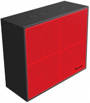 Портативна колонка Baseus Encok Music-cube Wireless Speaker E05 Black/Red