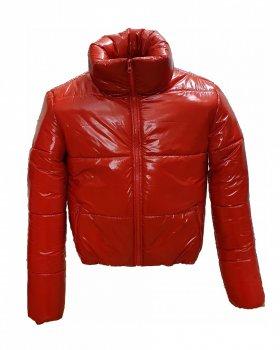 Куртка Пан Кафтан Вик Лак Ярко-красная