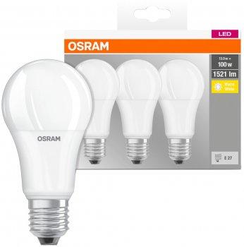Набір світлодіодних ламп OSRAM BASE A60 13W 2700К E27 3 шт. (4058075819412)