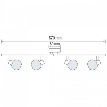 Світильник настінно-стельовий Horoz Electric Bodrum-4 max 4х40Вт Е14 (035-004-0004)